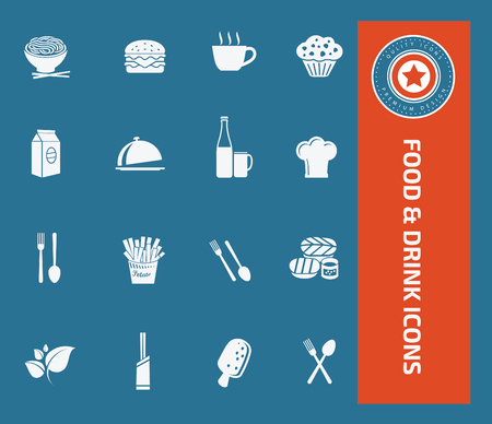 Food and drink design,clean vector Illustration