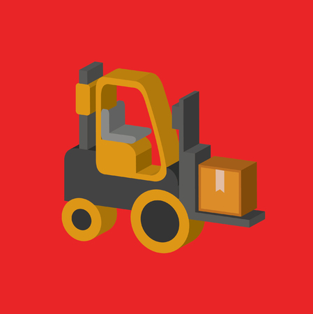 Forklift concept design,clean vector