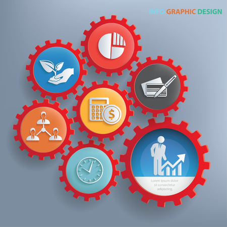 business meeting: Business info graphics design,clean vector Illustration