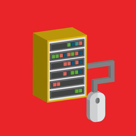 mobile website: Database concept design,clean vector