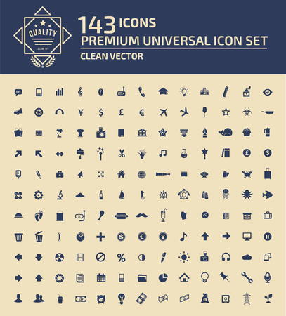 Universal web icon set concept design,clean vector