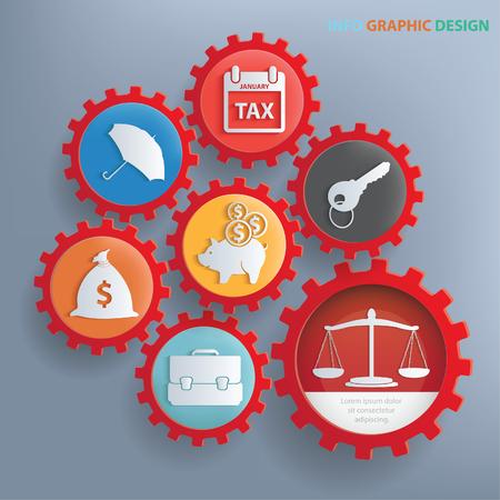 Business info graphics concept design,clean vector