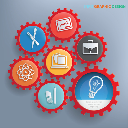 Education icon set concept design,clean vector