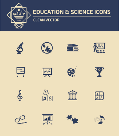 open notebook: Education icon set concept design,clean vector