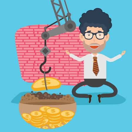 tired businessman: Businessman design,clean vector Illustration