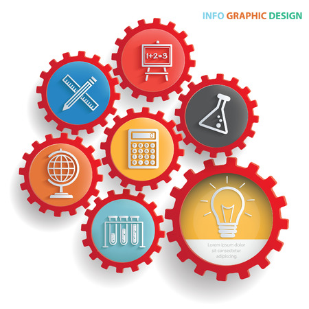Education info graphics design,clean vector Illustration