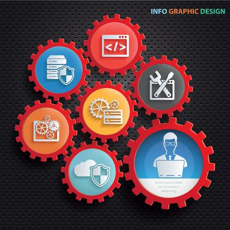 Admin and developer design,clean vector Illustration