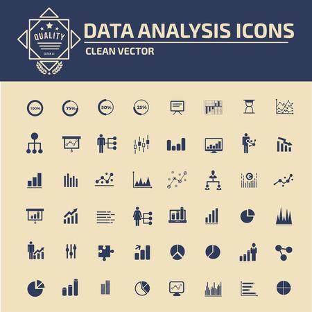 filtering: Data analysis icon set design,clean vector