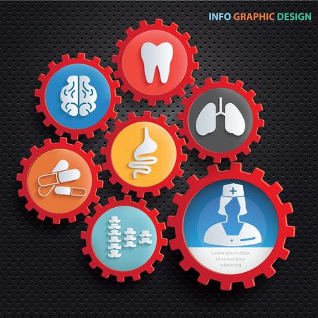 Medical info graphics design,clean vector