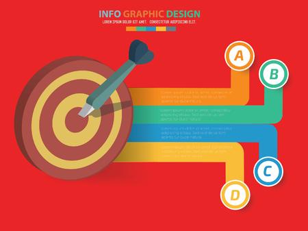 Dart design,clean vector Illustration