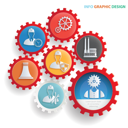 Engineer and industry design,clean vector Illustration
