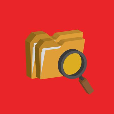 Folder design,clean vector