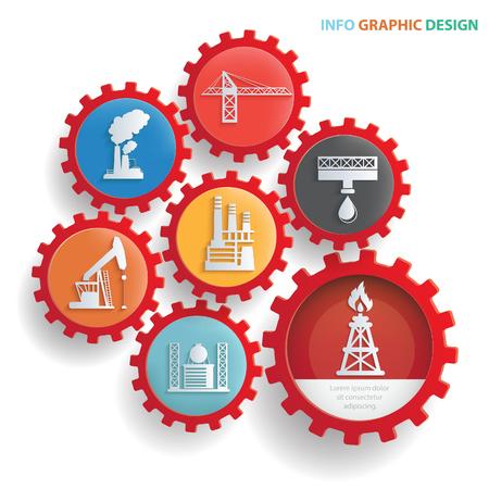 Oil industry design,clean vector