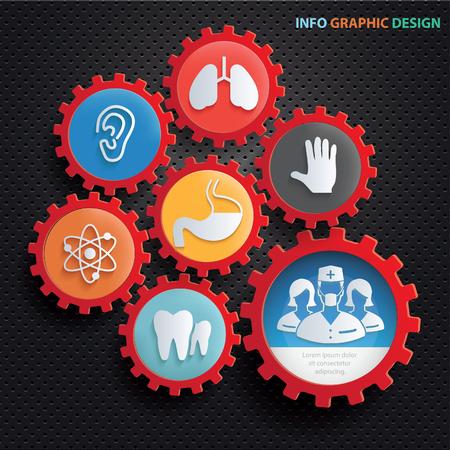 Health care info graphics design,clean vector