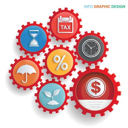 vocational training: Business info graphics design,clean vector Illustration