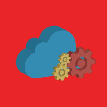 Cloud computing design,clean vector
