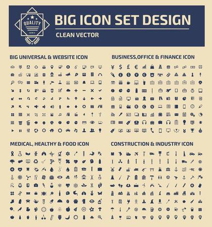 clock radio: Big icon set design,clean vector