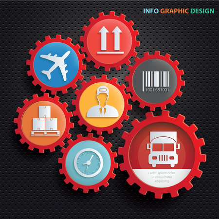 Logistic info graphics design,clean vector Illustration