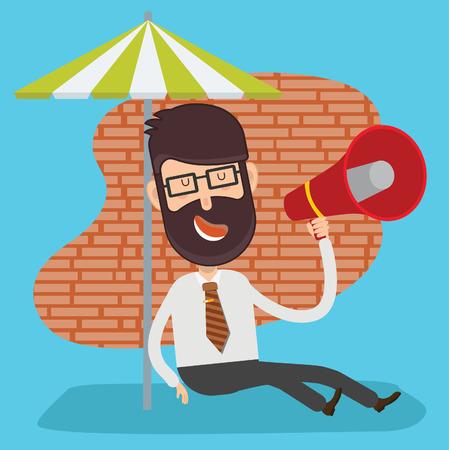 Businessman design,clean vector Illustration