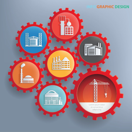 Industry info graphics design,clean vector