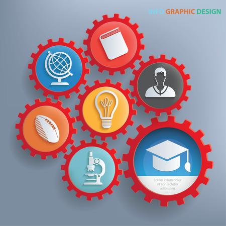 Education info graphics design,clean vector Illustration