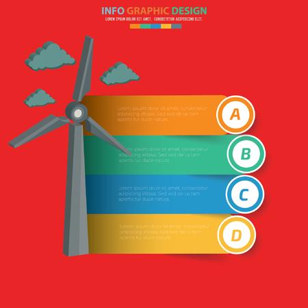 Wind turbine design,clean vector