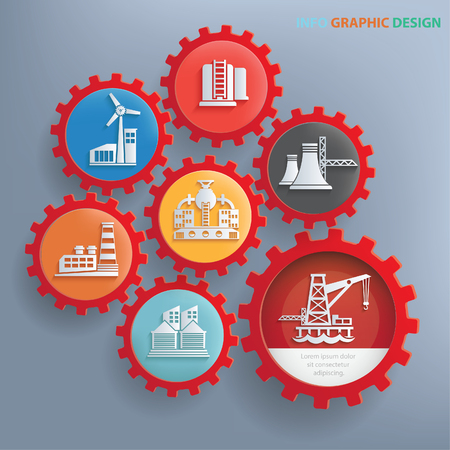 dangerous construction: Industry info graphics design,clean vector