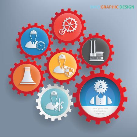 ferrous: Industry concept design,clean vector