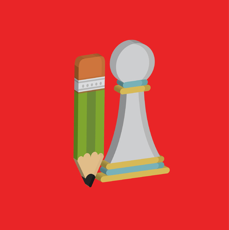 Chess concept design,clean vector