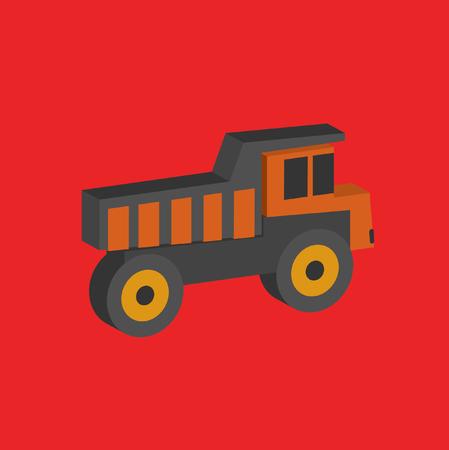 Truck design,clean vector