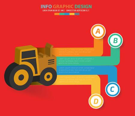Truck info graphics design,clean vector Illustration