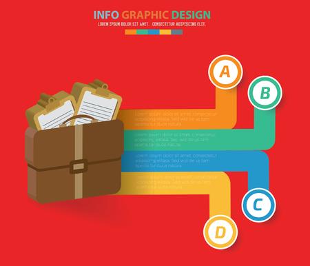 valise: Suit bag info graphics design,clean vector