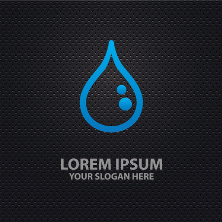 reflection of life: Water drop design,clean vector