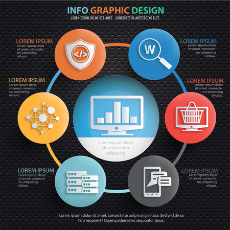 SEO development info graphics design,clean vector