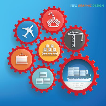 Logistic info graphics design