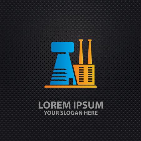 borehole: Industry design,clean vector Illustration