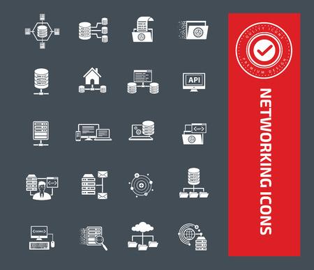 Network icon set design,clean vector