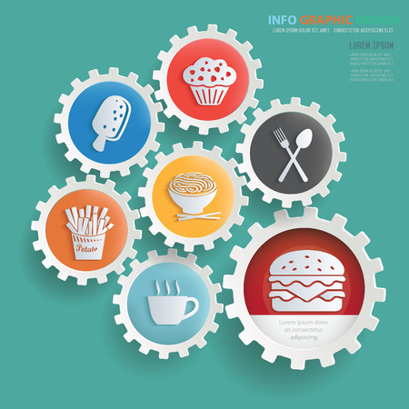 Food and drink info graphics design,clean vector