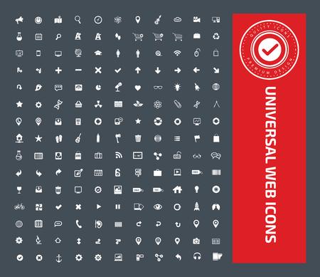 Universal website icon set design,clean vector