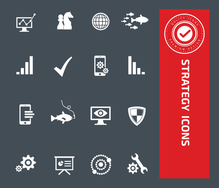 Strategy icons design,clean vector Illustration