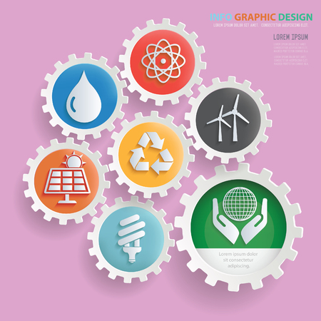 Ecology and nature info graphics design,clean vector