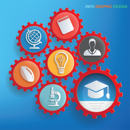Education icons design,clean vector