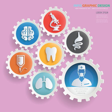 Medical info graphics design,clean vector