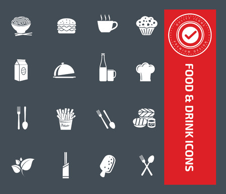 egg roll: Food and drink icons design,clean vector