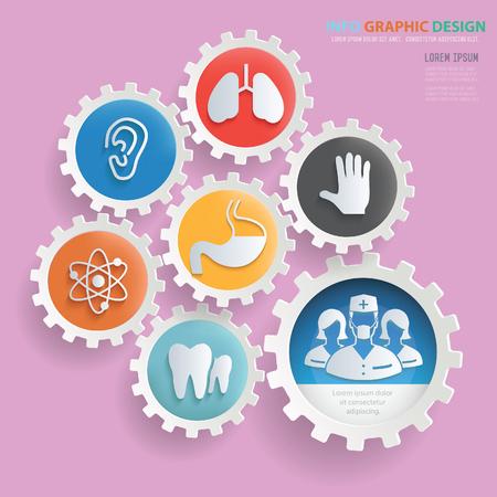 Medical info graphic design,clean vector Illustration