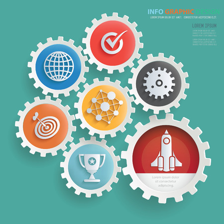 Business info graphics design,clean vector Illustration