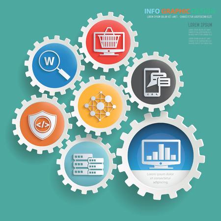 SEO development info graphic design,clean vector