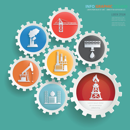 Oil industry info graphic design,clean vector