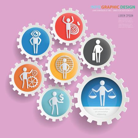 Businessman info graphic design,clean vector.