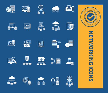 Networking icon set design,clean vector